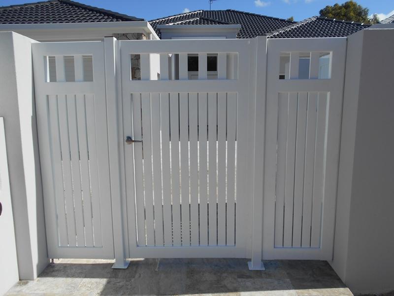 Wood Fence Gates Front Yards